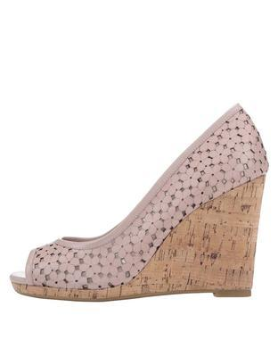 Pink leather heels to wedges Dune London Cassie - 6