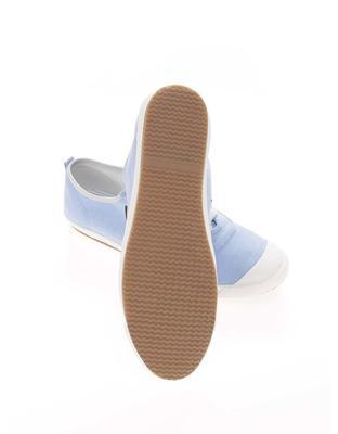 Light blue mens canvas sneakers phage Oak - 6
