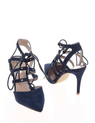 Dark blue sandals in suede adjustment Dorothy Perkins - 6