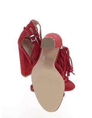 Červené semišové sandály na podpatku Miss Selfridge - 6