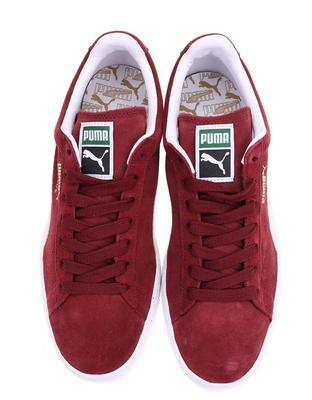 Creamy burgundy leather men sneakers Puma Suede Classic + - 6