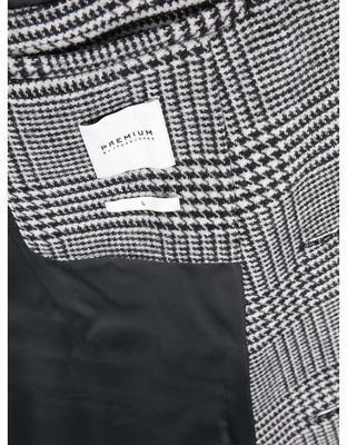 Čierno-biely kabát so vzorom glenček Jack & Jones Abalon - 7