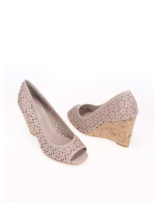 Pink leather heels to wedges Dune London Cassie - 7