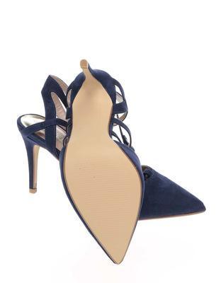 Dark blue sandals in suede adjustment Dorothy Perkins - 7